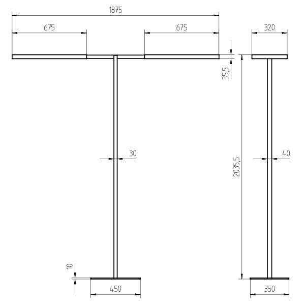 waldmann engineer of light lavigo twin t 17200 lm. Black Bedroom Furniture Sets. Home Design Ideas