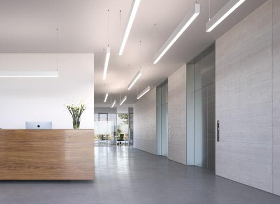 Lighting solutions for reception areas