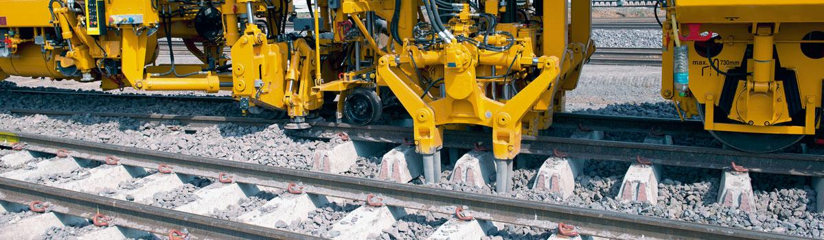 Luminaires for track laying machines
