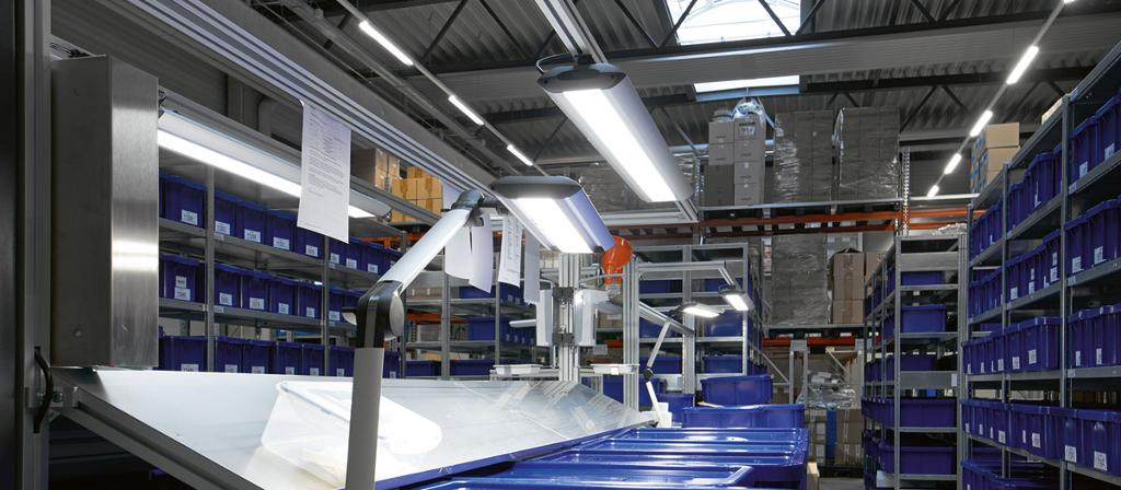 Workplace-System Luminaire TAMETO and Arm-Mounted Luminaire TANEO
